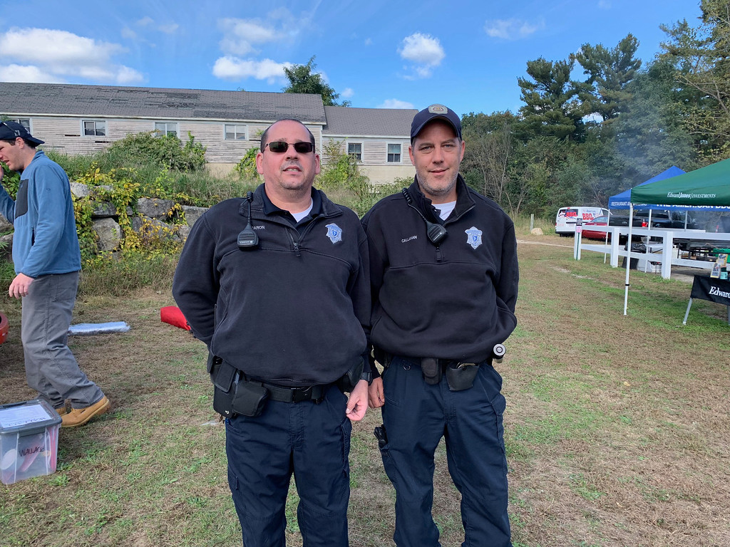 . State Hospital police officers Robert Caron and Daniel Callahan, both of Tewksbury