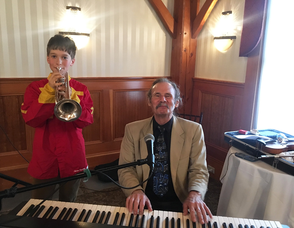 . Bugler Ian Behrstock of Boxboro and ��Ragtime� Jack Radcliffe
