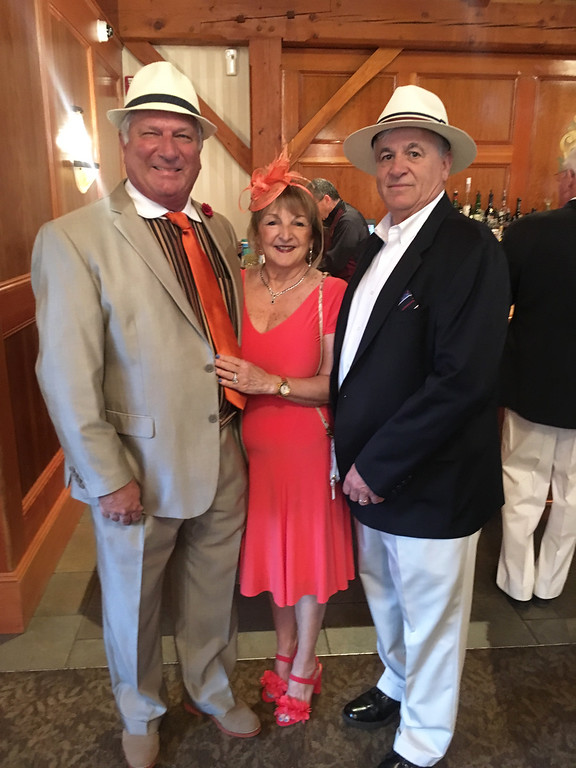 . From left, Joel and Debbie Deputat, and Jim Carter, all of Tewksbury
