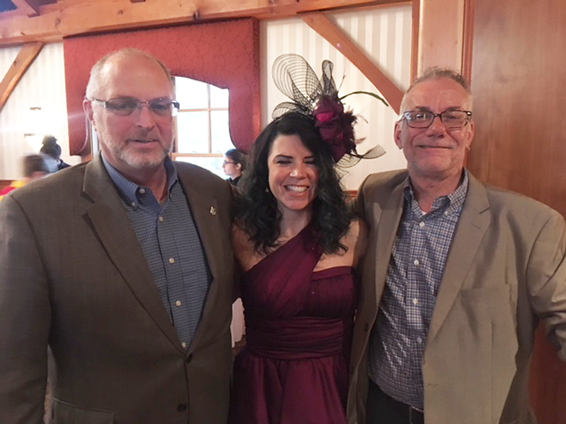 . From left, Donald Bedard, Kristen Kelly and David Vaillancourt, all of Lowell