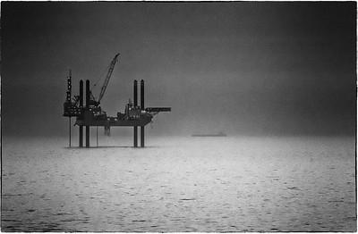 Swift Oil Rig North Sea