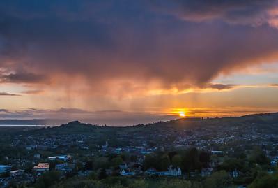 Sunset through the Rain - detail