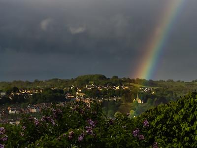 Bisley Cemetery and Rainbow