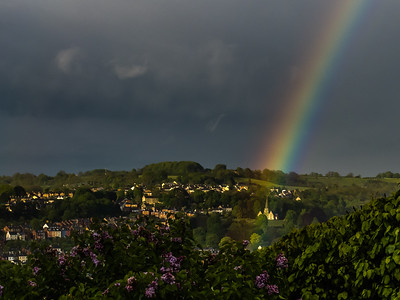 Rainbow and Cemetery at Bisley