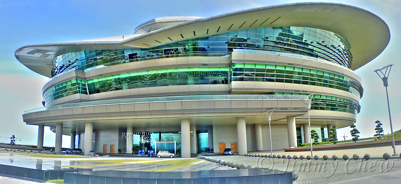 """<font color=""""yellow""""><h2>Putrajaya International Convention Centre (PICC)</h2> A panoramic snapshot from my camera phone (SE W810i), stitched and hdr'ed. This pic is <a href=""""http://oddstuff.multiply.com/photos/album/19/PICC_"""" target=""""_blank"""">blogged</a>. </font>"""
