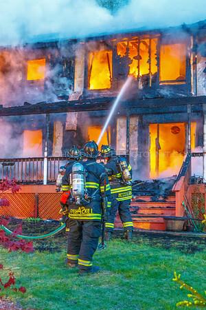 Structure Fire - #6 Woodland Ct. - Hughsonville Fire District -  5/09/2016