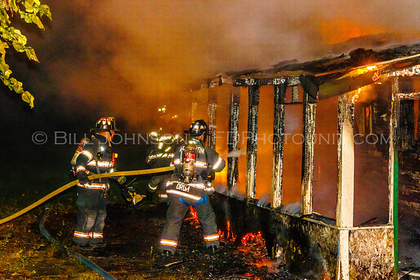 Structure Fire - Behind the Old Poughkeepsie Inn on Rte 9 - Arlington Fire District - 9/24/2018