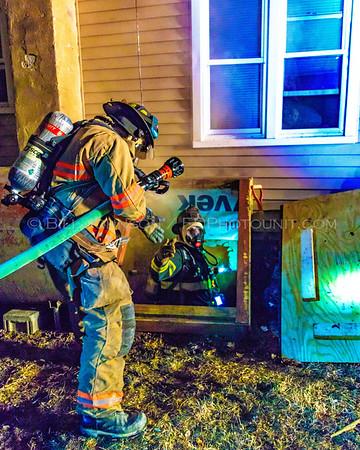 Structure Fire - Herczeg Dive - New Hackensack Fire District - 02/07/2017