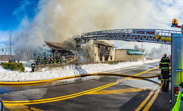 Structure Fire - Joseph's Steak House - Violet Avenue - Roosevelt Fire District - 3/20/2017