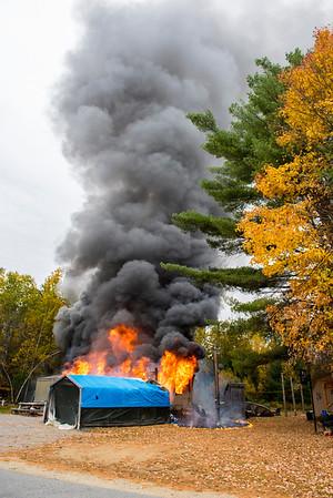 Structure Fire - Whittier Rd. Farmington - 10\18\16