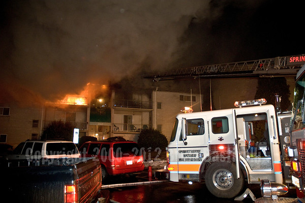10MAR07 Springettsbury Twp. 3rd Alarm Garden Apartment Fire