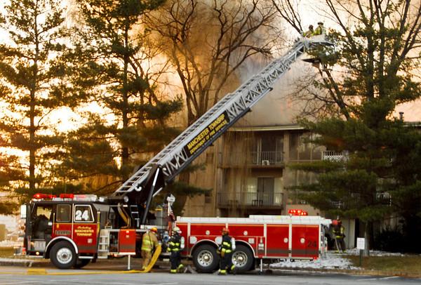 22JAN08 Springettsbury Township 3rd Alarm Apartment Fire