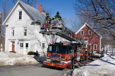 Chimney Fire - 02/14/09 - Wilton Road