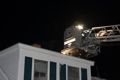 Chimney Fire, Knowlton Corner Road & 10-55 Car vs Poles