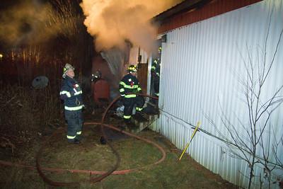 Structure Fire - Arkay Trailer Park Wilton, ME - December 7th, 2012