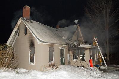 Structure Fire - Birch Street Wilton, Maine - January 20th, 2011