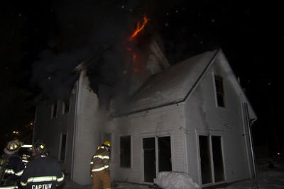 Structure Fire - Mutual Aid to New Portland - January 22nd, 2013
