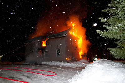 Structure Fire  - Route 27, New Vineyard - February 8th, 2011