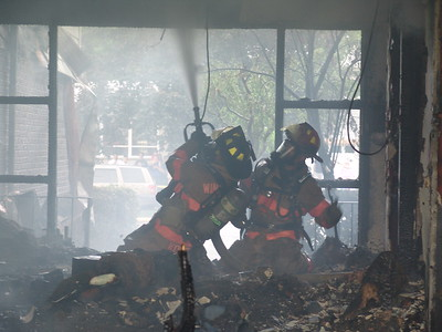 Winnetka Fire Fighters Make An Interior Attack