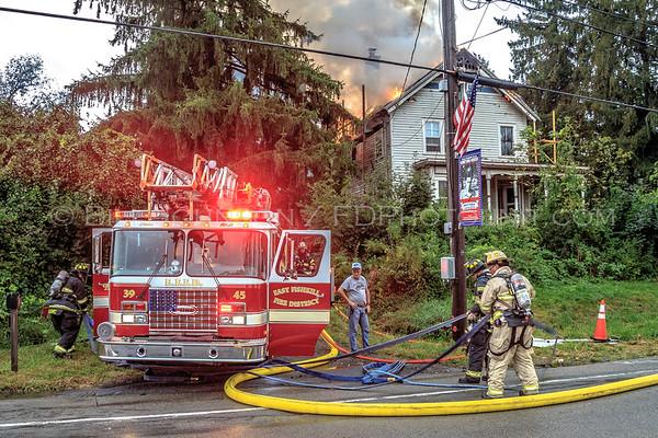 Structure Fire due to lightning strike - Rte 82 J/N/O  Unity Street - East Fishkill FD -9/6/2018