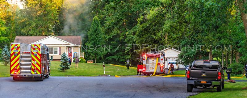 Structure fire - 18 Montfort Woods Road - New Hackensack Fire District - 7/29/2016