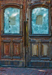 Abandoned Storefront  Doors