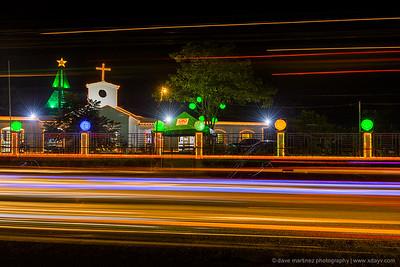 St. Josemaria Escriva Mission Station at Night
