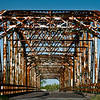 Abandoned trestle bridge over Trinity River