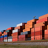 Shipping Containers at Port of Houston, Bayport Facility