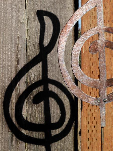 Gee.  (G-clef garden ornament).