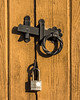 Door hardware, garden shed
