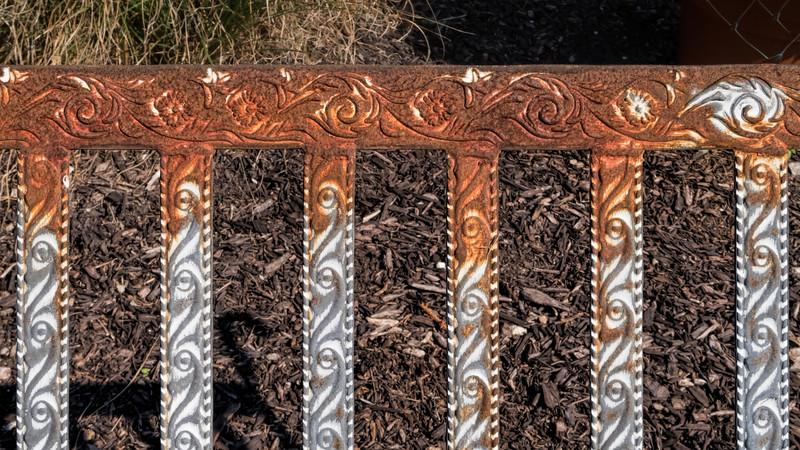 Detail, garden bench