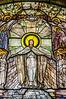 Detail from 'Flight of Souls' by L. C. Tiffany, Wade Memorial Chapel