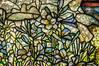 Glorious Glass - detail from 'Flight of Souls', window by Tiffany