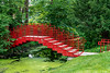 Red bridge at Dow Gardens