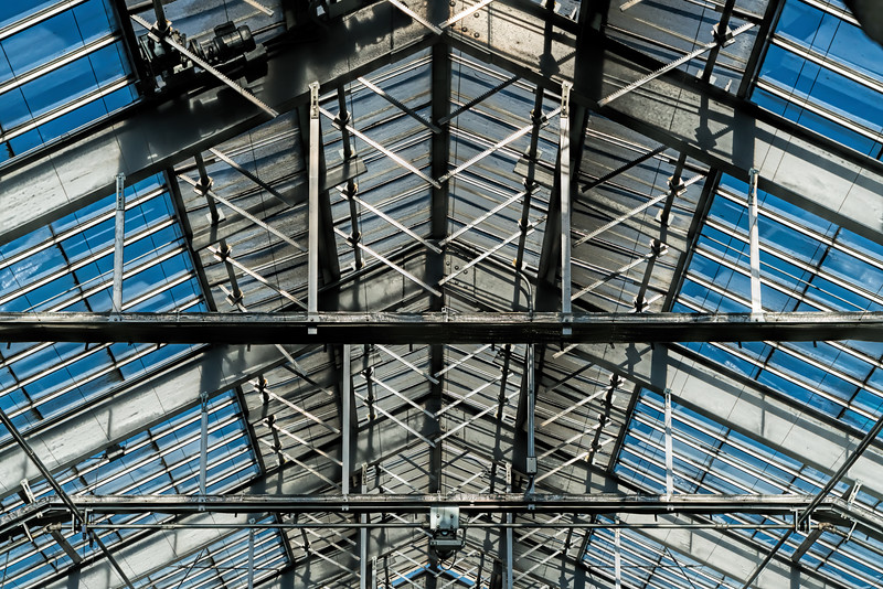 Patterns - conservatory glass roof and supports