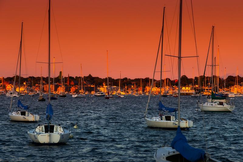 Sunrise, Newport bay, Rhode Island