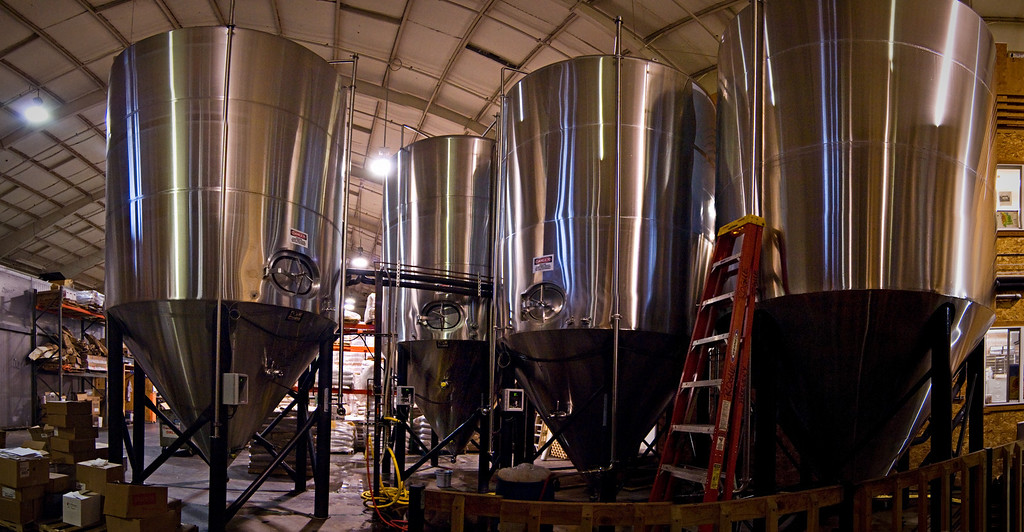 Conical fermenters, Rogue Brewery, Newport, Oregon<br /> © Douglas Remington - Ethereal Light Photography, LLC. All Rights Reserved. Do not copy or download.