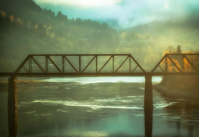 Train Bridge in Morning