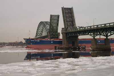 Tacony Bridge during a winter opening