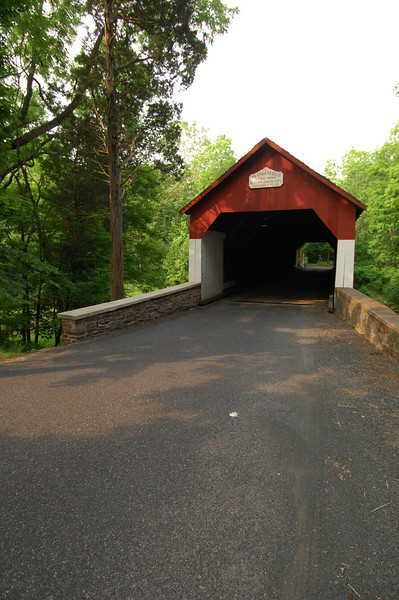 Frankenfield Covered Bridge in Bucks County, PA