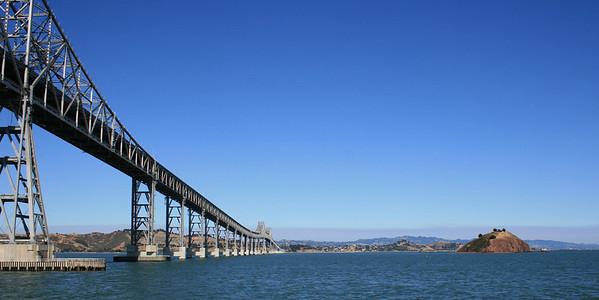 Richmond-San Rafael Bridge and Red Rock Island. 30 Jun 2008.