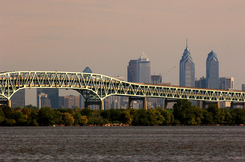 Girard Point Bridge and Philadelphia skyline