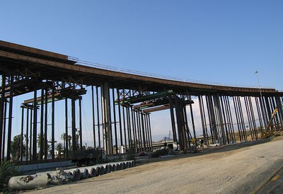60/91/215 Interchange under construction, 3 Aug 2005