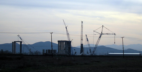 Construction of GE's  Inland Empire Energy Center, Romoland, 24 Mar 2006