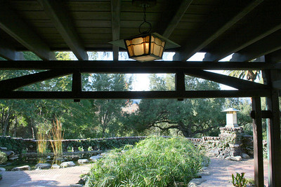 Back porch; Gamble House, Pasadena, 11 Jan 2009