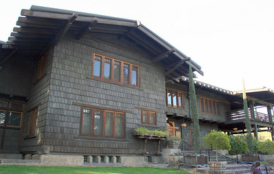 Front of house; Gamble House, Pasadena, 11 Jan 2009