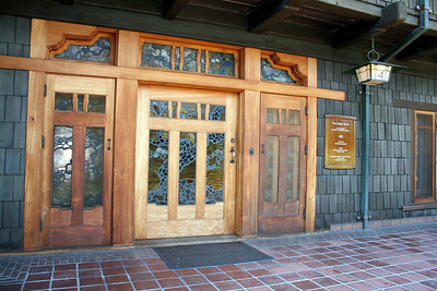 Front door; Gamble House, Pasadena, 11 Jan 2009
