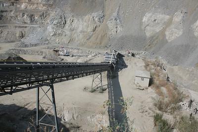 Conveyor. Rock quarry.  Corona, CA.  18 Jul 2008.