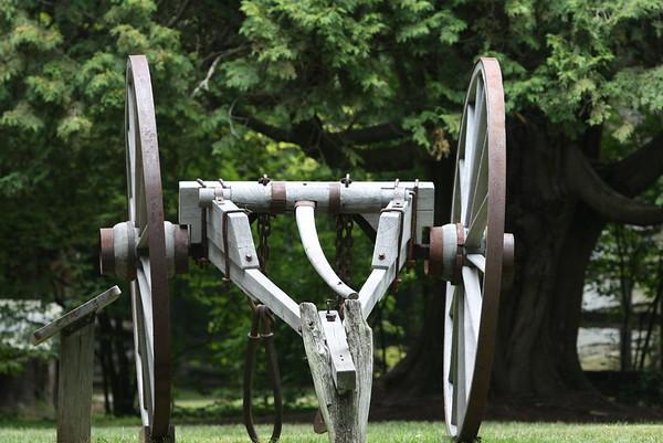 Big wheel log hauler